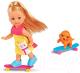 Кукла с аксессуарами Simba Эви на скутере и скейте 105732295 -