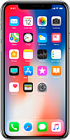 Смартфон Apple iPhone X 64Gb / MQAD2 (серебристый) -