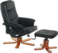 Массажное кресло Calviano 92 с пуфом (черный) -