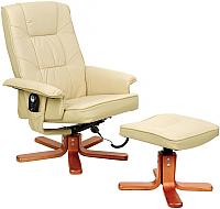 Массажное кресло Calviano 20 с пуфом (бежевый) -