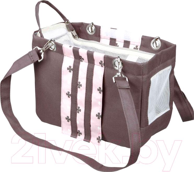 Купить Сумка для животных Trixie, Fina Carrier 28909 (темно-серый/розовый), Германия