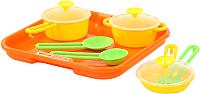Набор игрушечной посуды Полесье Поварёнок №1 с подносом / 40732 -