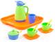 Набор игрушечной посуды Полесье Алиса с подносом на 2 персоны / 40572 -