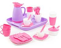 Набор игрушечной посуды Полесье Алиса на 4 персоны Pretty Pink / 40657 -