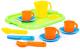 Набор игрушечной посуды Полесье Анюта с подносом на 3 персоны / 3872 -