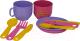Набор игрушечной посуды Полесье Минутка на 2 персоны / 9554 -