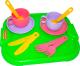 Набор игрушечной посуды Полесье Минутка с подносом на 2 персоны / 9516 -