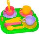 Набор игрушечной посуды Полесье Минутка с подносом на 3 персоны / 9523 -