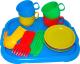 Набор игрушечной посуды Полесье Минутка с подносом на 4 персоны / 9530 -