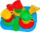 Набор игрушечной посуды Полесье Минутка с подносом на 6 персон / 9547 -
