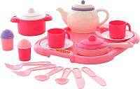 Набор игрушечной посуды Полесье Настенька с подносом на 2 персоны / 59000 -