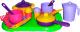 Набор игрушечной посуды Полесье Хозяюшка с подносом на 2 персоны / 4053 -