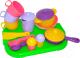 Набор игрушечной посуды Полесье Хозяюшка с подносом на 3 персоны / 4046 -