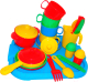 Набор игрушечной посуды Полесье Хозяюшка с подносом на 4 персоны / 4039 -