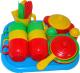 Набор игрушечной посуды Полесье Хозяюшка с подносом на 6 персон / 4022 -