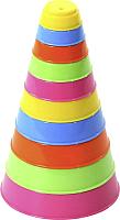 Развивающая игрушка Полесье Занимательная пирамидка / 35042 (10эл) -
