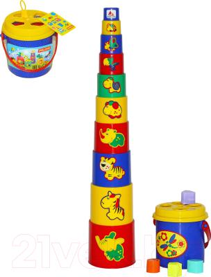 Развивающая игрушка Полесье Занимательная пирамидка №3 / 52605 (16эл)