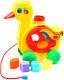 Развивающая игрушка Полесье Уточка-несушка / 6219 (в сеточке) -