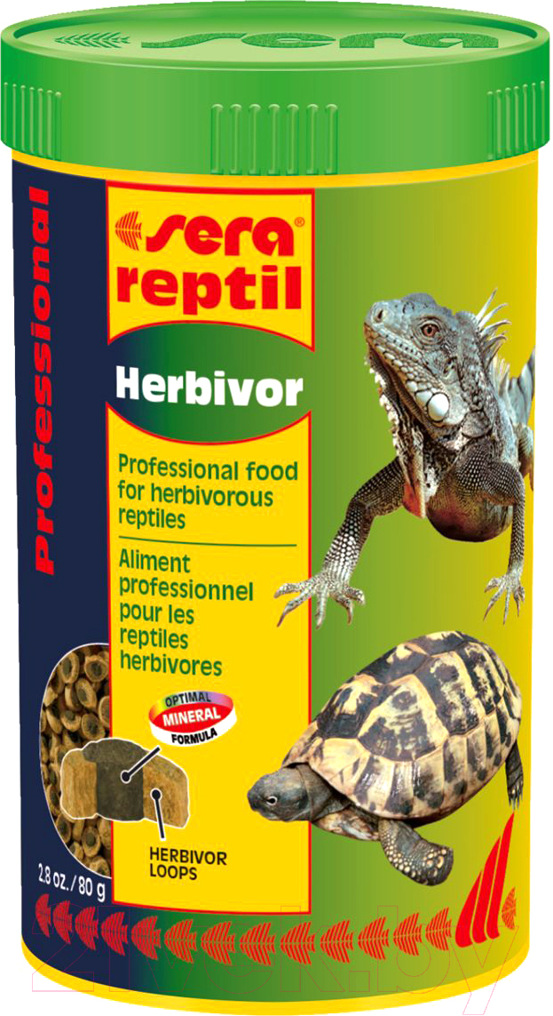 Купить Корм для рептилий Sera, Reptil Professional Herbivor 01810 (250мл/80г), Германия