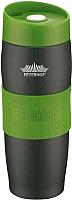 Термокружка Peterhof PH-12419 (черный/зеленый) -