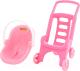 Коляска для куклы Полесье Pink Line 2x1 / 44525 -