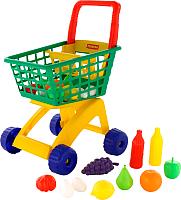 Тележка игрушечная Полесье №6 с набором продуктов / 61904 -