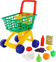 Тележка игрушечная Полесье №8 с набором продуктов / 61928 -