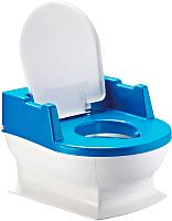Детский горшок Reer Sitzfritz / 9044111 (синий/белый) -