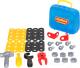 Набор инструментов игрушечный Полесье Механик / 56498 (30эл, в чемоданчике) -