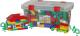 Конструктор Полесье Строитель / 52773 (530эл, в контейнере) -