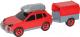 Сборная игрушка Полесье Автомобиль легковой с прицепом / 56658 -