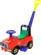 Каталка детская Полесье Джип с ручкой / 62918 (красный) -