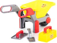 Тачка игрушечная Полесье Детская тачка №4 с набором каменщика №2 / 42064 -