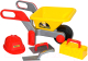 Детская тележка Полесье Детская тачка №4 Construct с набором каменщика №3 / 50212 -