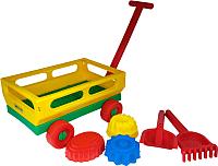 Тележка с игрушками для песочницы Полесье №481 / 45690 -