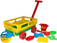 Тележка с игрушками для песочницы Полесье №488 / 45768 -