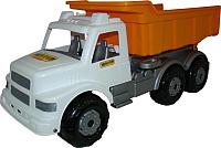 Самосвал игрушечный Полесье Автомобиль дорожный Буран / 43689 (белый/оранжевый) -