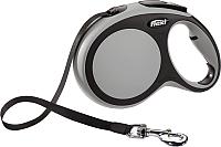 Поводок-рулетка Flexi New Comfort L 8m (ремень, серый) -