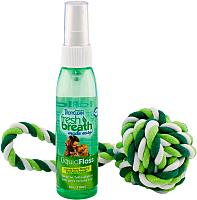 Средство для гигиены рта животных TropiClean Fresh Breath Liquidfloss+Rope Ball 001268 -
