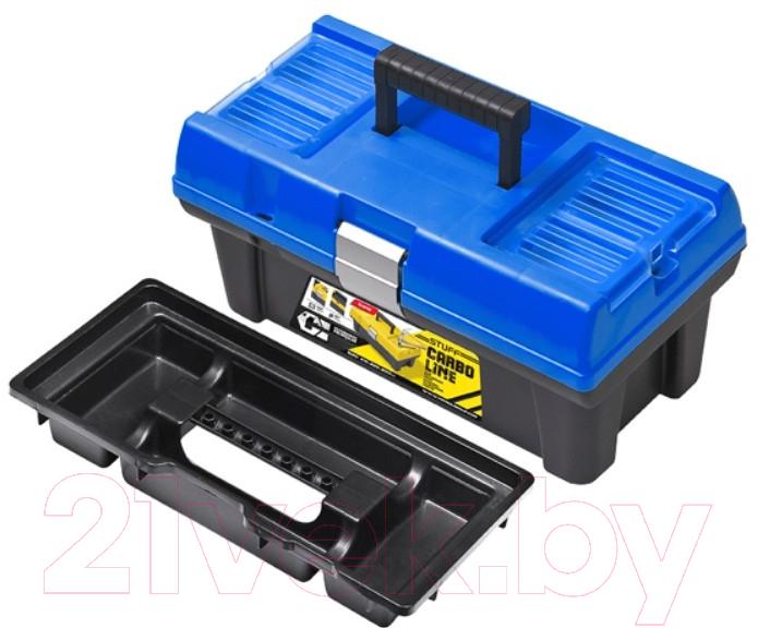 Купить Ящик для инструментов Patrol, Stuff Semi Profi Carbo 16 (синий, 415x226x200), Польша, пластик