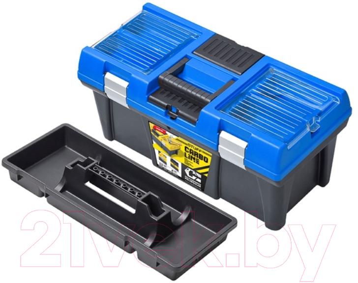 Купить Ящик для инструментов Patrol, Stuff Semi Profi Carbo 20 (синий, 525x256x246), Польша, пластик