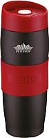 Термокружка Peterhof PH-12419 (черный/красный) -