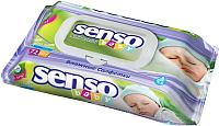 Влажные салфетки Senso Baby С клапаном (72шт) -