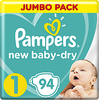 Подгузники Pampers New Baby-Dry 1 Newborn (94шт) -