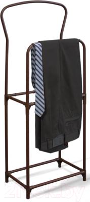 Стойка для одежды Sheffilton SHT-SUR3 (коричневый муар/коричневый)