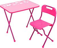 Комплект мебели с детским столом Ника КА2 Алина (розовый) -