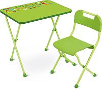Комплект мебели с детским столом Ника КА2 Алина (салатовый) -