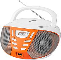 Магнитола BBK BX193U (белый/оранжевый) -
