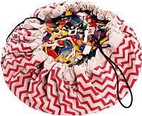 Коврик-мешок Play&Go Print Красный зигзаг / 79962 -