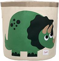 Корзина 3 Sprouts Зеленый динозаврик / 27252 -